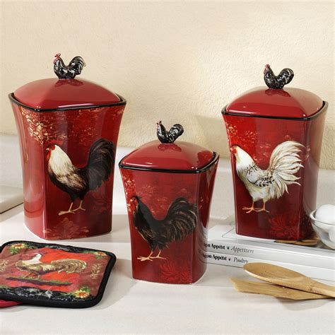 decorative kitchen canisters sets kitchen theme decor sets images15 chicken kitchen decor