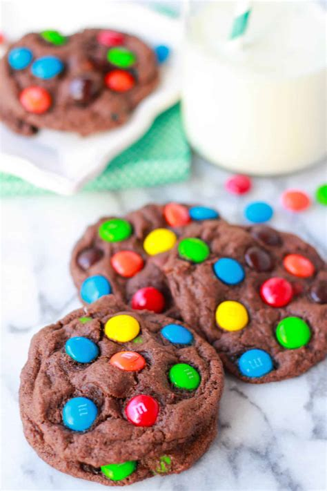 chocolate mm cookies celebrating sweets
