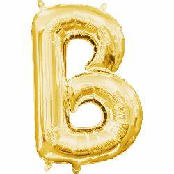 mini letter balloons 16quot mini gold letter b balloon self With small mylar letter balloons