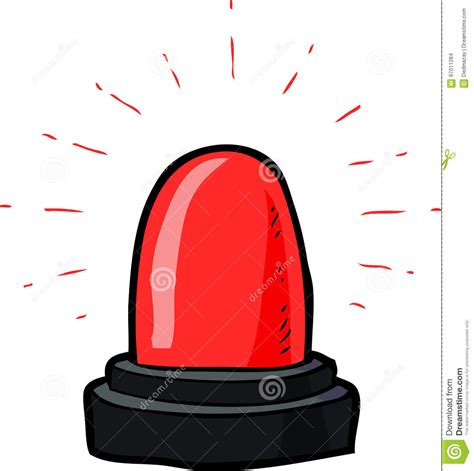 flashing emergency light stock vector image