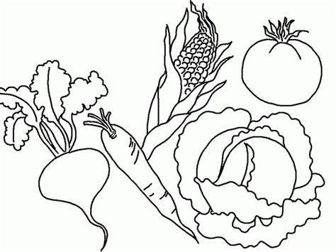 fruit  vegetable coloring page az coloring pages