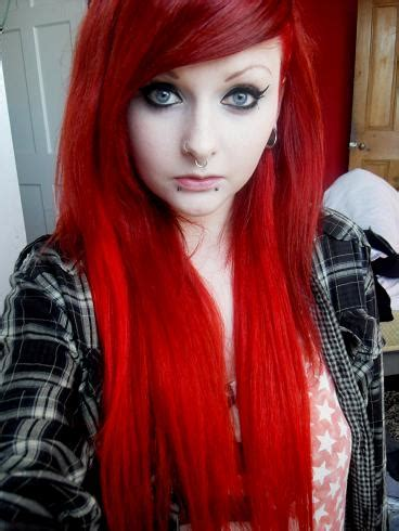 Girl With Long, Straight, Bright Red <a href=