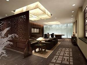 Living room interior design with Chinese traditional
