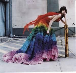 Alexander McQueen Rainbow Dress