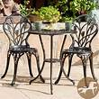 Cast Iron Bistro Patio Set Outdoor Table Chairs Furniture Sets 3 pc Metal | eBay