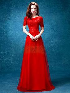 Red Romantic Long Flowing Gown Styles for Occasional Wearing u2013 Designers Outfits Collection