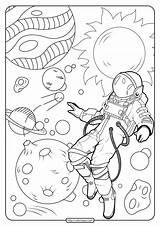Coloring Space Astronaut Printable Pdf Adults Adult Arwen Tulamama Dwarf Planets Moon Whatsapp Tweet sketch template