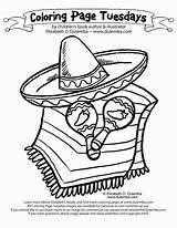 Coloring Pages Sombrero Mexican Mayo Hispanic Cinco Printable Culture Month Mexico Fiesta Spanish Heritage Hat Dulemba Sheets Flag Latino Worksheet sketch template