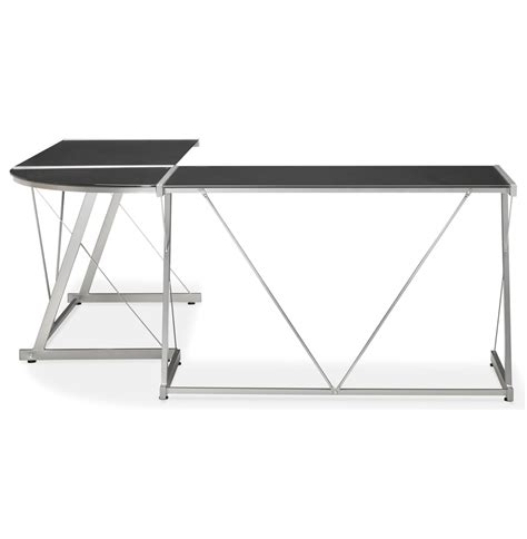 grand bureau design grand bureau d 39 angle bureau design en verre noir