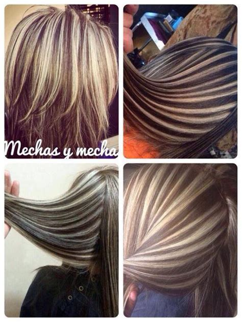 2 color hair chunky highlights chunky streaks lowlights 2