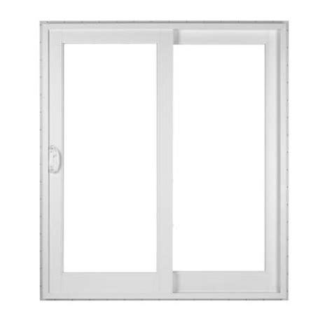 Simonton Patio Door Sizes by Simonton White 2 Panel Rail Sliding Patio Door With