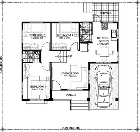 story small home plan   car garage pinoy