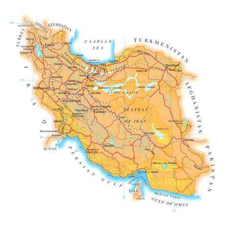Maps Of Iran  Detailed Map Of Iran In English Tourist