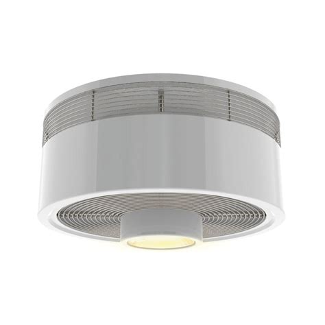 flush mount caged ceiling fan shop harbor breeze hive series 18 in white indoor flush