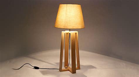 Lampe Pied En Bois Lampadaire Interieur Salon