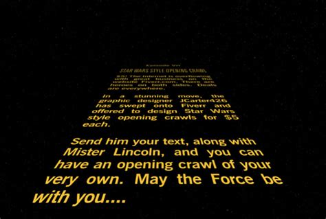 star wars style opening crawl  jcarter