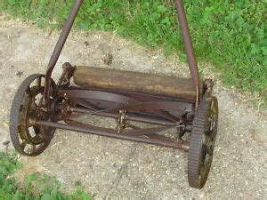 great states rotary reel push lawn mower vintage grass