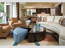 Curved Sofas for a Cozy and Welcoming Seating Area