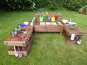 Kinderküche Aus Holz : palettenm bel kinderk che xl aus holz f r garten mit 3 becken ~ Orissabook.com Haus und Dekorationen
