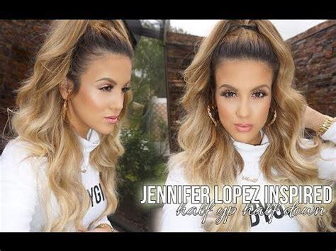 Jennifer Lopez Inspired High Half Pony   YouTube