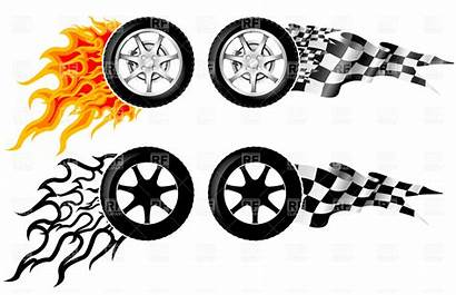 Wheel Clipart Racing Fire Tire Clip Tyre