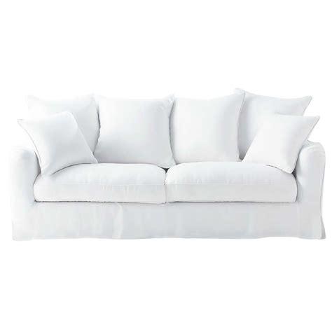 canapé blanc 3 places canapé blanc 3 places bovary maisons du monde