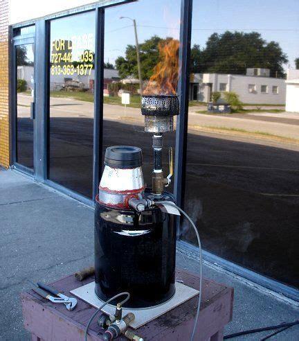home built biomass gasifier  producing wood gas