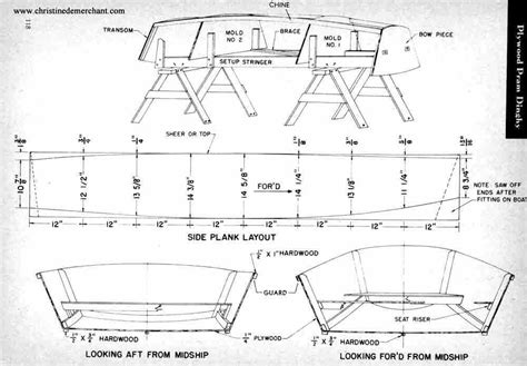 Drift Boat Plans Stitch And Glue by Plywood Catboat Boat Plans