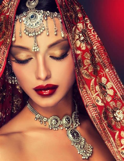 beautiful indian woman stock photo nitrogfx