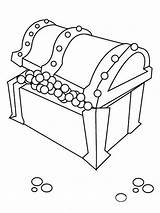 Treasure Chest Coloring Open Clipart Pearls Cliparts Chair Clip Library Popular Results sketch template