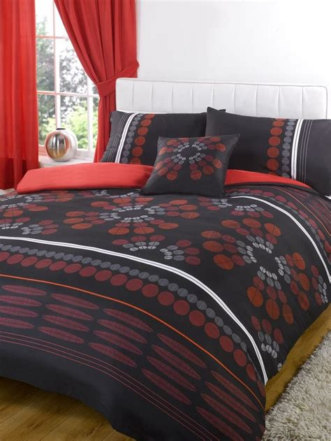 Bedspreads And Drapes - bumper duvet complete bedding set with matching curtains