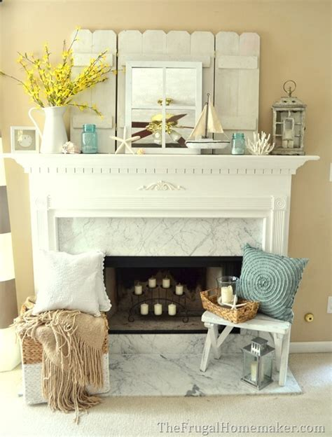 kitchen mantel decorating ideas cottage or coastal themed decorated mantel 1 mantel
