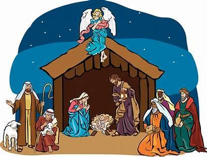 Clipart Manger Jesus Scene Nativity Clip Transparent