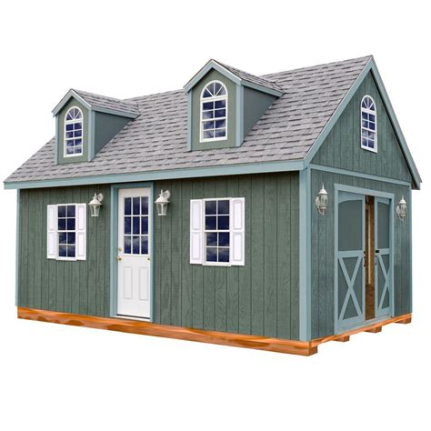 Home Depot Backyard Sheds by Best Barns Arlington 12 Ft X 24 Ft Wood Storage Shed Kit