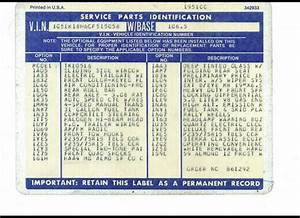 34 Service Parts Identification Label