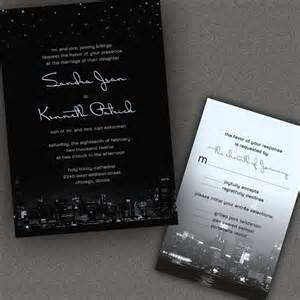 wedding invitations chicago chicago city skyline wedding invitations with by alookoflove