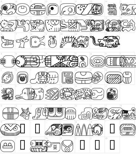 mayan glyphs font