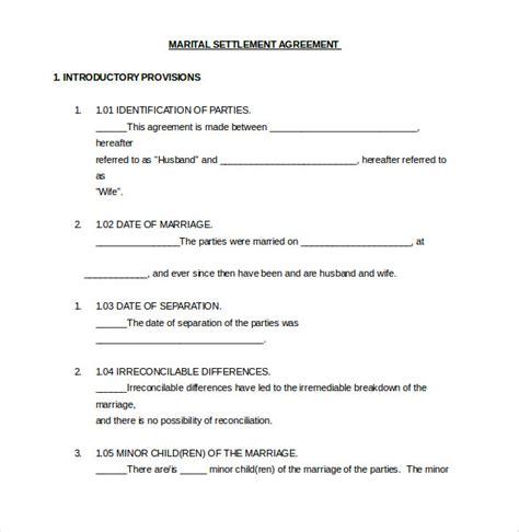 divorce agreement template 12 divorce agreement templates pdf doc free premium templates