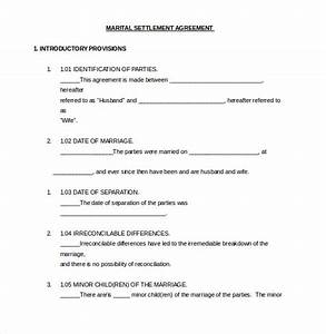 12 divorce agreement templates pdf doc free With seperation agreement template