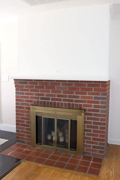 painting our brick fireplace white hometalk