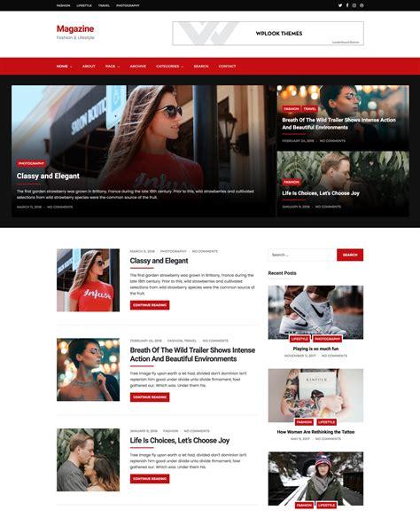 Magazine Wp Themes Magazine Lifestyle Personal News Theme