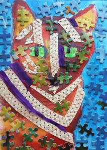 Esl Students Summer Collage Lesson Idea Pet Portrait Using Found Objects
