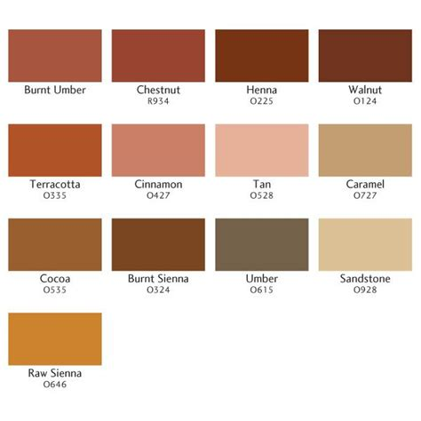 umber color umber swatches color combos image