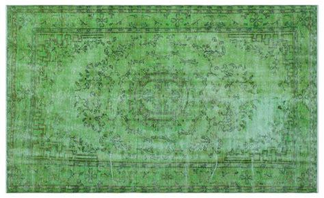 vintage teppich gruen