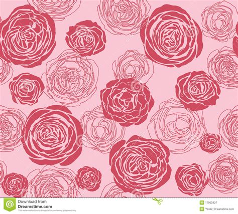rose pattern stock vector illustration  silhouette