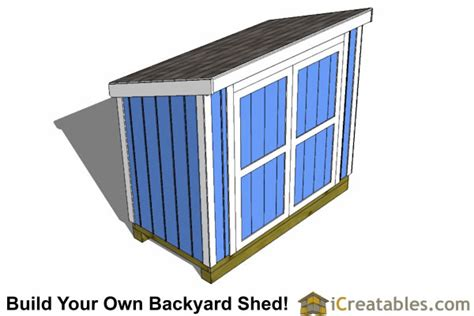 4x8 lean to shed plans the perfect low wall lean to plans