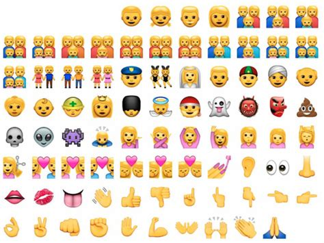 emoji for iphone here are all the new ethnically diverse emoji apple just Emoji