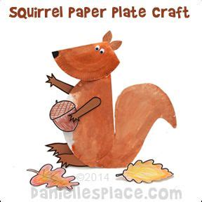 squirrel paper plate craft  kids  www