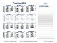 Fiscal Week Calendar 2020 Fiscal Year Calendar Template For 2020 And Beyond