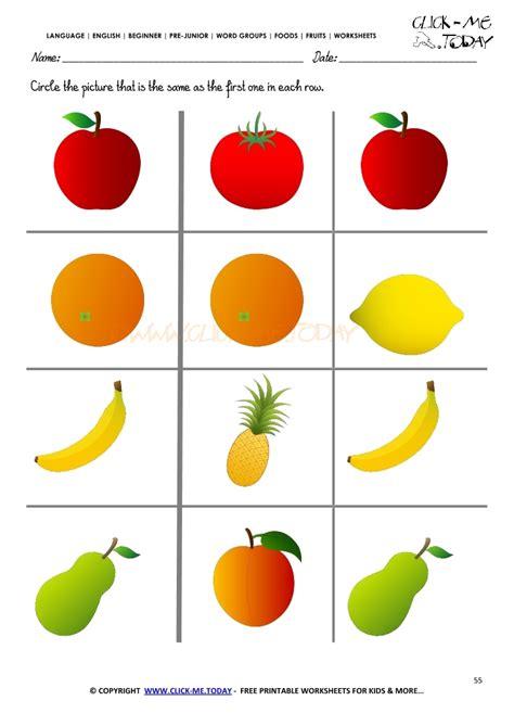 fruits worksheet  circle   fruit